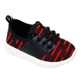 9 of Kids Bar Jogger In Black And Red