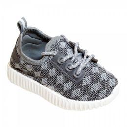 9 of Kids Diamond Knit Jogger In Grey