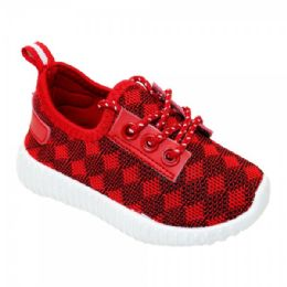 9 of Kids Diamond Knit Jogger In Red