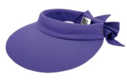 12 of Cotton Solid Color Visor With Back Bow