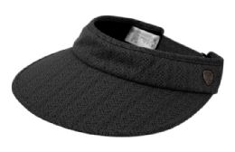 12 of Cotton Solid Color Visor With Back Bow in Black