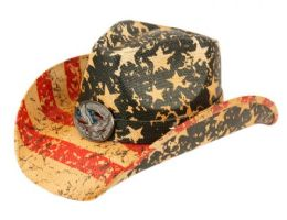 12 of American Flag Cowboy Hats