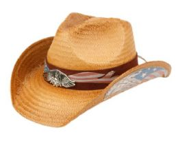 12 of Fashion Cowboy Hats With Eagle Badge And Flag Trim Band