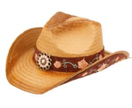 12 of Fashion Cowboy Hats With Floral Trim Band