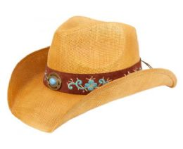12 of Fashion Cowboy Hats With Floral Trim Band And Stud