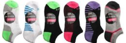 48 of Womens 2 Pair Elite No Show Athletic Performance Socks Size 9-11