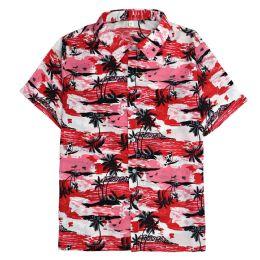 12 of Men's Hawaiian Red Shirt ,size S-2xl