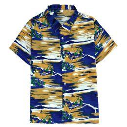 12 of Men's Hawaiian Mustard Shirt Plus Size, 2xL-4xl