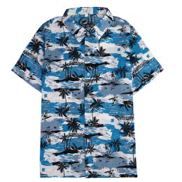 12 of Men's Light Blue Motorcycle Print Shirt ,size S-2xl