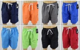 72 of Men's Assorted Color Bathing Suit, Size S-xl