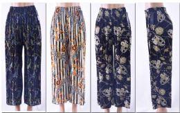 72 of Women's Pleated Palazzo Pants W/ Belt