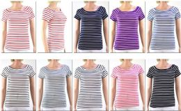 72 of Women's Striped Short Sleeve Top