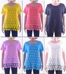 72 of Women's Butterfly Crochet Top
