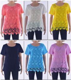 72 of Women's Floral Crochet Top