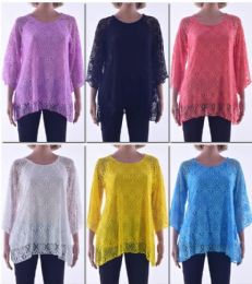 72 of Women's Long Sleeve Crochet Top