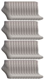 120 of Yacht & Smith Women's Premium Cotton Ankle Socks Gray Size 9-11