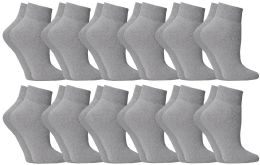 60 of Yacht & Smith Women's No-Show Ankle Socks Size 9-11 Gray BULK PACK