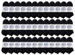36 of Yacht & Smith Kids No Show Ankle Socks Size 6-8 Black