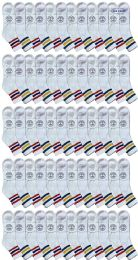 240 of Yacht & Smith Men's King Size Cotton Sport Ankle Socks Size 13-16 With Stripes