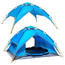 2 of Camping Tent Light Blue 3-4 People