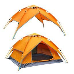 2 of Camping Tent Orange 3-4 People