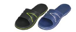36 of Men's Shower Slippers Two Color Assortment