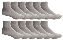 12 of Yacht & Smith Men's King Size No Show Ankle Socks .size 13-16 Gray