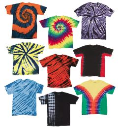 72 of TiE-Dye - Youth TiE-Dye T-Shirt Assorted Colors And Sizes