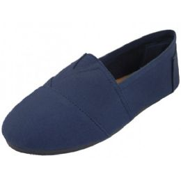 24 of Men's Slip On Casual Canvas Shoe ( *navy Color )