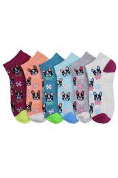 432 of Ladies Printed Casual Spandex Ankle Socks Size 9-11