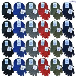 48 of Yacht & Smith Wholesale Kids Beanie And Glove Sets (beanie Glove Set, 48)