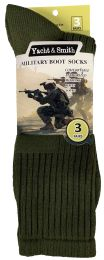 24 of Yacht & Smith Men's Army Socks, Military Grade Socks Size 10-13 Solid Army Green