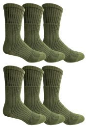 6 of Yacht & Smith Military Grade Wick Dry Crew Socks ,heavy Duty Boot Sock, Army Green