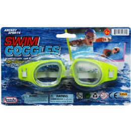 """96 of 6"""" Swimming Goggles On Blister Card, 4 Assrt Clrs"""