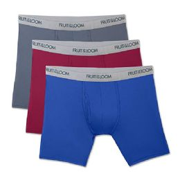 72 of Fruit Of The Loom Boys Underwear, Boxer Brief Assorted Colors Size L