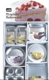 96 of Tinplate Assorted Bakeware Display