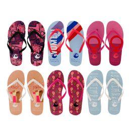 96 of Women's Printed Flip Flops