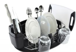 4 of Stianless Steel And Chrome Dish Rack