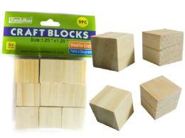 96 of 9 Piece Wood Craft Blocks
