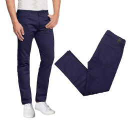 36 of Men's 5-Pocket UltrA-Stretch Skinny Fit Chino Pants Black