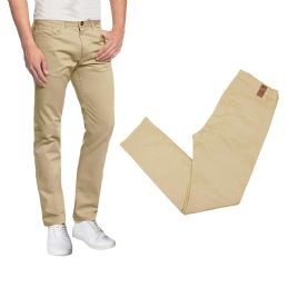 36 of Men's 5-Pocket UltrA-Stretch Skinny Fit Chino Pants Khaki