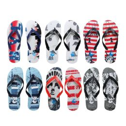 96 of Men's Printed Nyc Printed Flip Flops