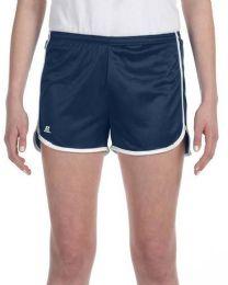 36 of Women's Russell Athletic Active Shorts In Navy And White,size Small