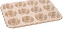12 of Non Stick Cupcake Pan Copper Finish