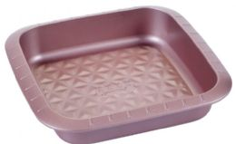 12 of Non Stick Square Pan Rose Gold
