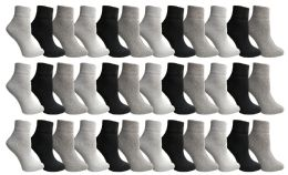 36 of Yacht & Smith Women's Assorted Color Quarter Ankle Sports Socks, Size 9-11