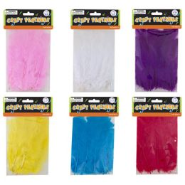96 of 3gm Craft Feathers Bag In 6 Assorted Colors