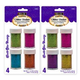 72 of Bazic 8g / 0.28 Oz. 4 Neon Color Glitter Shaker