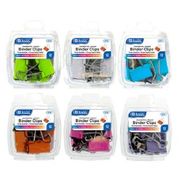 48 of Bazic Assorted Size Color Binder Clip (12/pack)