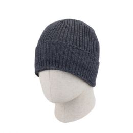36 of Adult Plain Ribbed Winter Knit Beanie Hat